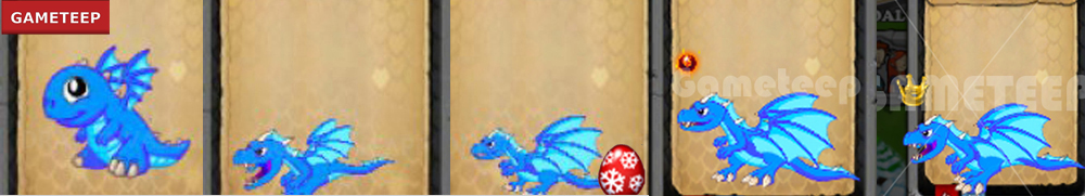 DragonVale Blue Fire Dragon
