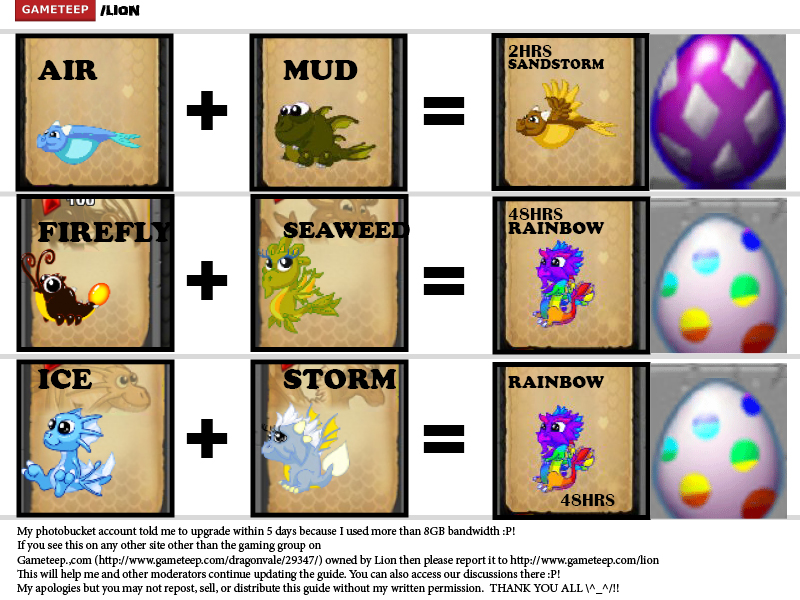 DragonVale Breeding Guide Page - 10