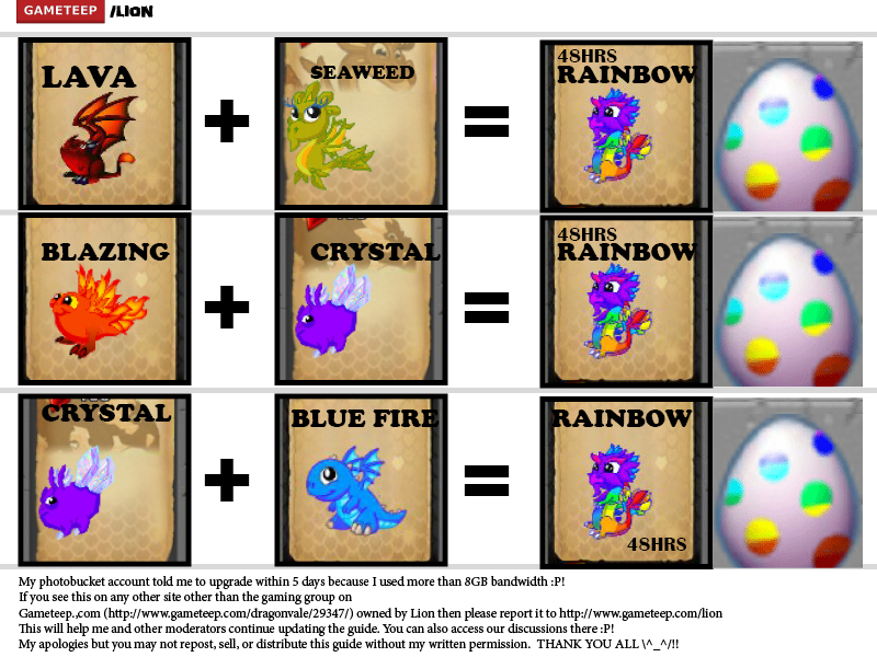 DragonVale Breeding Guide Page - 11