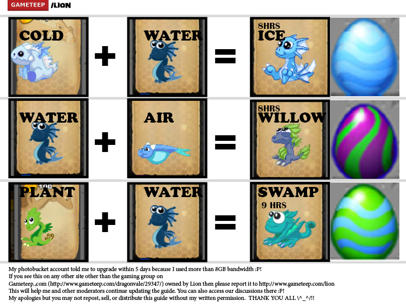 DragonVale Breeding Guide Page - 5