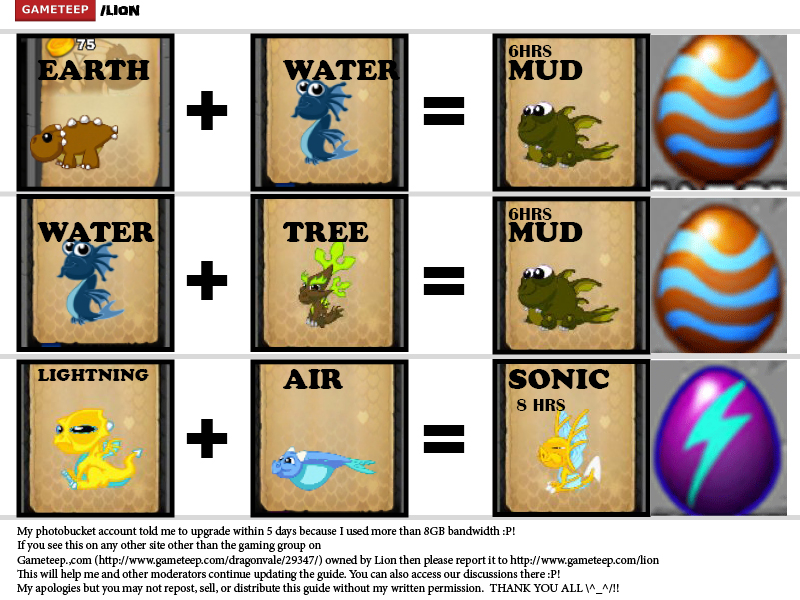 DragonVale Breeding Guide Page - 6