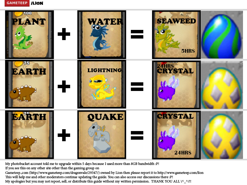 DragonVale Breeding Guide Page - 7