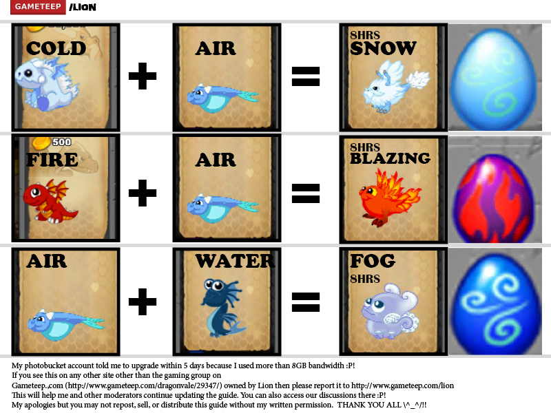 DragonVale Breeding Guide Page - 8
