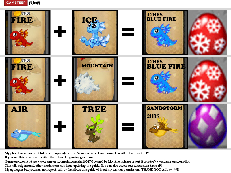 DragonVale Breeding Guide Page - 9