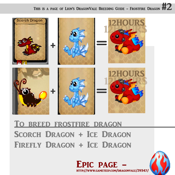 DragonVale Frostfire Breeding Guide #2