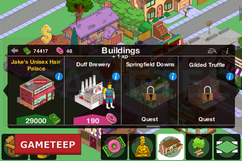 The Simpsons Tapped Out Random Buildings
