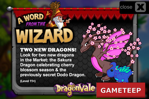 DragonVale Sakura Dragon - Dodo Dragon