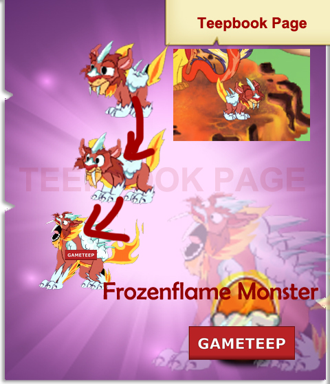 Tiny Monsters: Frozenflame Monster
