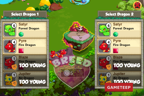 Dragon Story Breeding den Screen shot