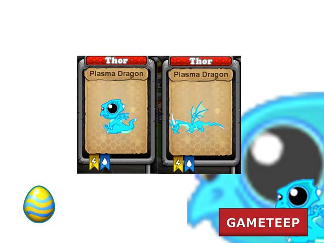 DragonVale Plasma Dragon Pictures