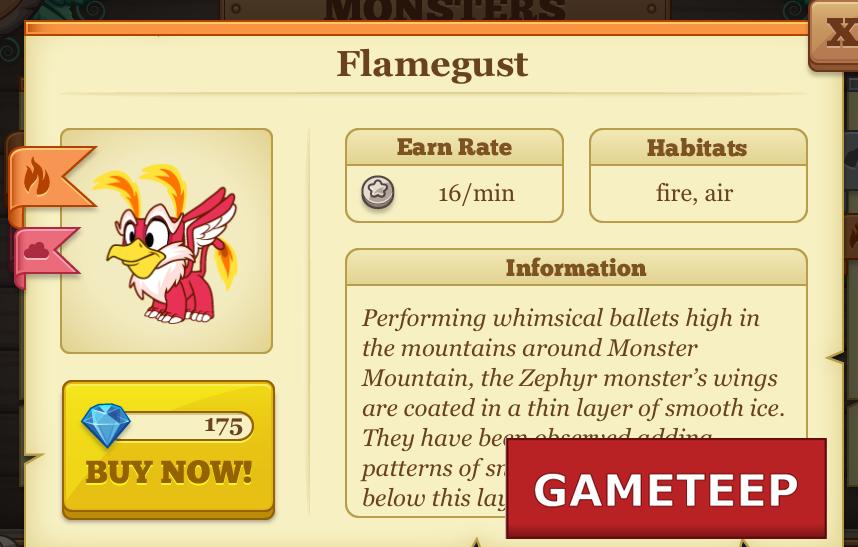 Tiny Monsters - Flamegust Monster