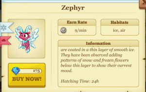 Tiny Monsters Zephyr Monster Baby