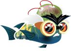 Fish with Attitude Mad Scientist Fish Adult