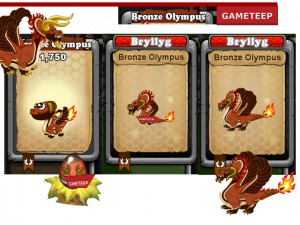 DragonVale - Bronze Olympus Dragon