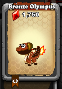 DragonVale Bronze Olympus Dragon Baby