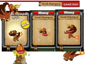 DragonVale - Gold Olympus Dragon