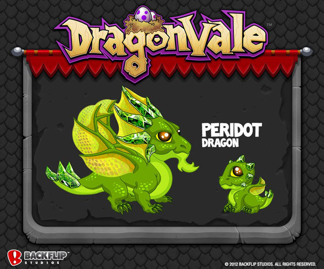 DragonVale-PERIDOT-Dragon August