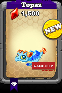 DragonVale Topaz Dragon Baby