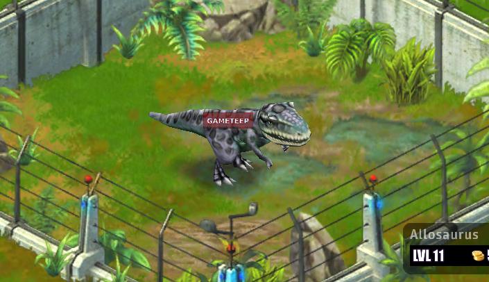Jurassic Park Builder: Allosaurus | Gameteep