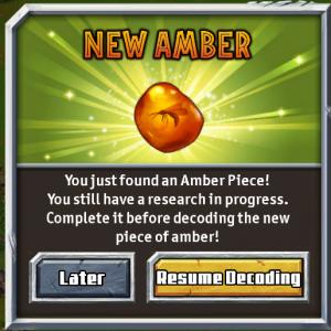 Jurassic Park Builder Amber