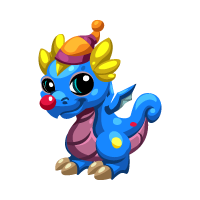 Dragon Story - Clown Dragon Baby