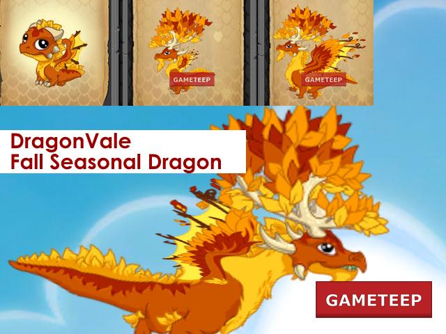 DragonVale Fall Seasonal Dragon Evolution