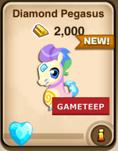 Monster Story Diamond Pegasus Baby