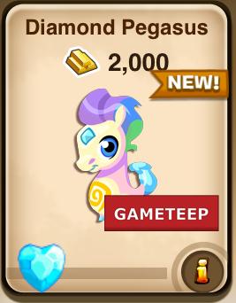 Monster Story: Diamond Pegasus Monster | Gameteep