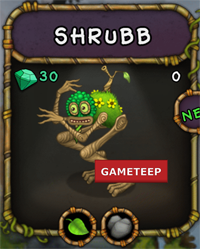 My Singing Monsters Shrubb Monster