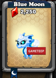 DragonVale Blue Moon Dragon Icon