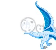DragonVale Blue Moon Dragon sneak preview half