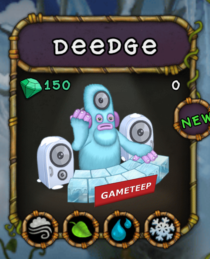 My Singing Monsters Deedge Monster
