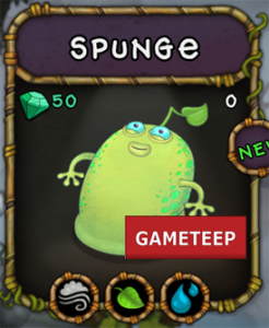 My Singing Monsters Spunge Monster