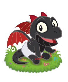 Dragon Skies Obsidian Dragon Baby