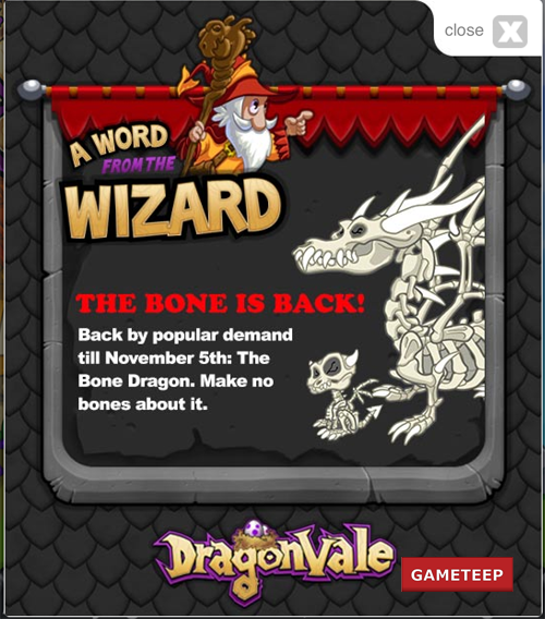 DragonVAle Bone Dragon 2012