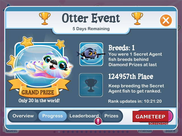 fish with attitude otter special event gameteep