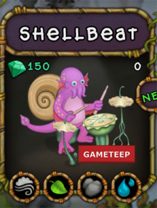 My Singing Monsters Shellbeat Monster