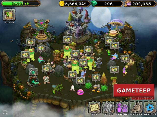 My Singing Monsters Update 1.0.4, for Halloween!