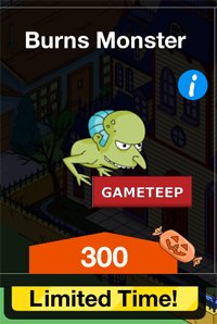 The Simpsons Tapped Out - Burns Monster