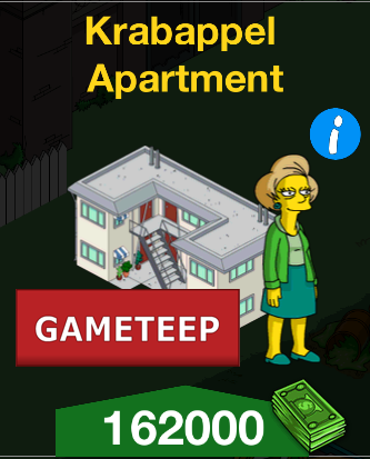 The Simpsons Tapped Out - Krabappel Apartment
