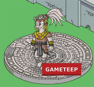 The Simpsons Tapped Out - Mayan God