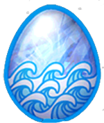 DragonVale Aquamarine Dragon egg