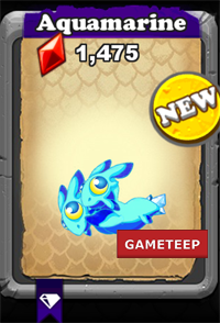 DragonVale Aquamarine Dragon