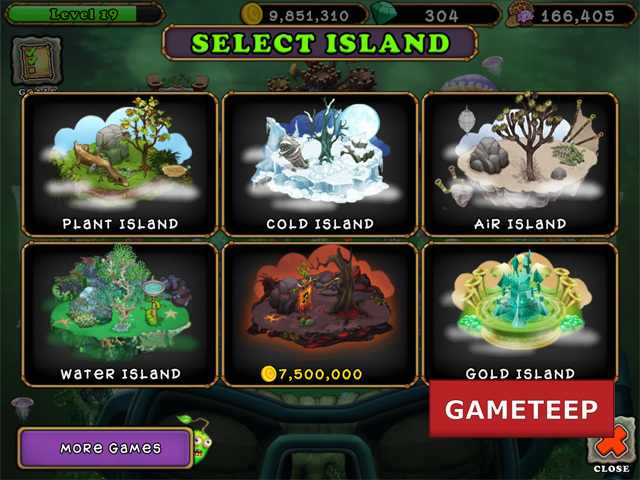 My Singing Monsters - Earth and Gold Island