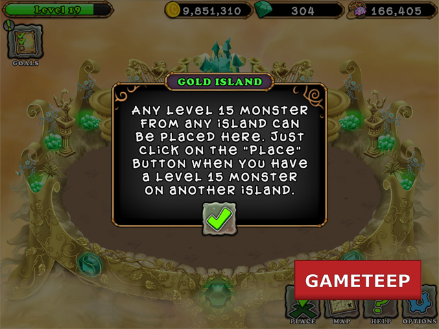 My Singing Monsters Gold Island info