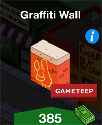 The Simpsons Tapped Out - Graffiti Wall