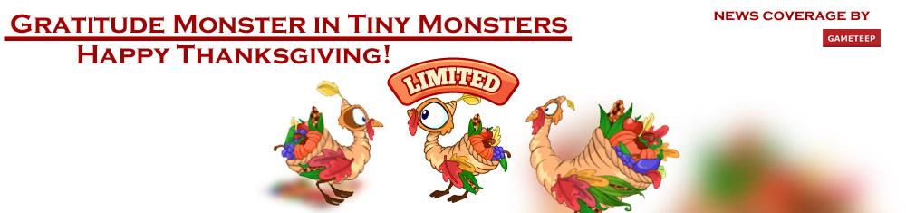 Tiny Monsters Gratitude Monster Banner
