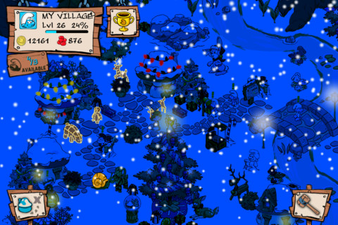 smurfs village christmas screenshot 2