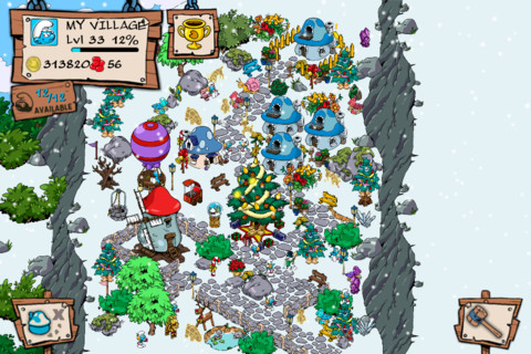 smurfs village christmas screenshot 3