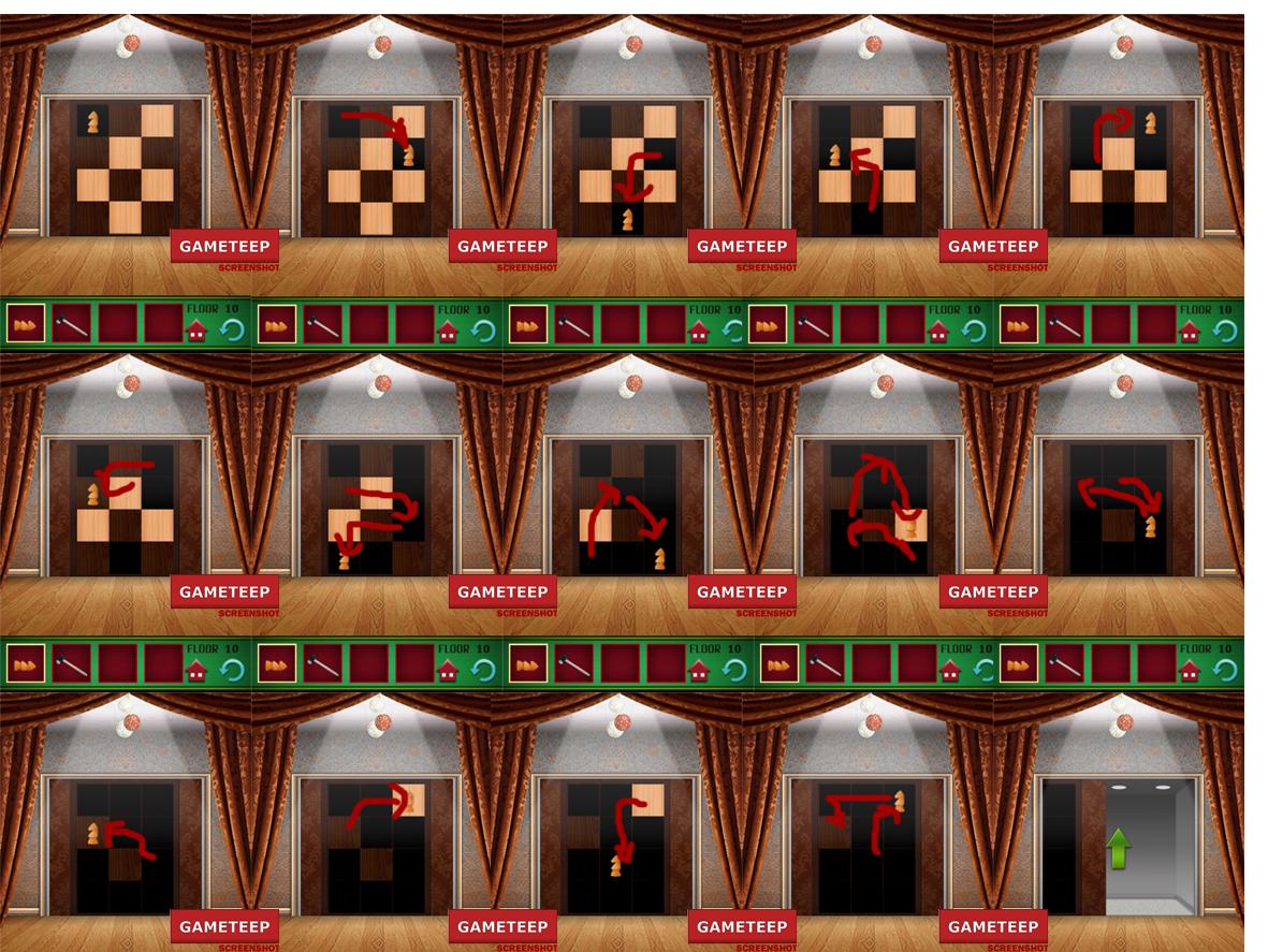 100 Floors Christmas Special Level 10 Gameteep